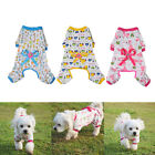 Dog Stripes  jumpsuit Pajamas Coat Cat Puppy Cozy Clothes Apparel For Small Pet