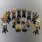 multi color metal spacer beads charms - various crown shapes