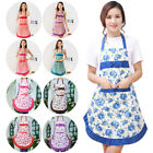 Women Plain Apron With Pocket Chefs Butcher BBQ Kitchen Cooking Baking Catering