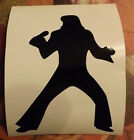 Elvis silhouette - Vinyl Sticker - 3 x 5 inches