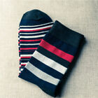 Family Striped Mens Cotton Colorful Stripe Casual Dress Soft Ankle Women's Socks