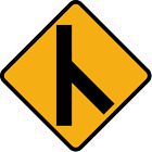 ***RIGHT MERGING TRAFFIC #2 HIGHWAY SIGN VINLY DECAL STICKER MULTIPLE SIZES***