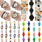 Beauty Hot Women Sport PU Leather Steel Luxury Analog Quartz Watch Wristwatch