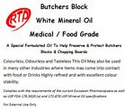 Butchers Block Oil 250ml / 1 Ltr For Butchers Chopping Blocks White Mineral Oil