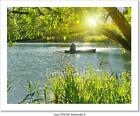 Inveterate Fisherman In A Boat Art Print/Canvas Home Decor Wall Art Poster - B