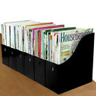 Evelots 12 Magazine/File Holders With Adhesive Labels, Black Or White