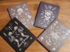 OCCULT MINI SKETCH PAD memo notebook journal paper gothic skull diary blank 4I