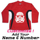 Stormtrooper Star Wars Hockey Practice Jersey Optional Name And Number- Red