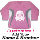 Stormtrooper Star Wars Hockey Practice Jersey Optional Name And Number- Pink
