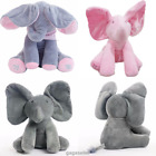 Peek-a-boo Xmas Singing Elephant Plush Toy Stuffed Animated Kids Doll Soft Toy