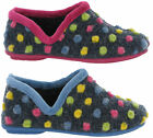 Sleepers Jade Knitted Dotted Spots Dots Comfort Cosy Soft Full Slippers Womens
