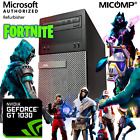 Built You Fast HP Gaming PC Windows 10 GT1030 Video HDMI WiFi i5 3.2Ghz 8GB/16GB