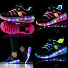 Skates Kids Roller Shoes Boys Girls Sports Wheels Gift Flash LED Heelys Trainers