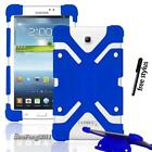 """Shockproof Silicone Stand Cover Case For Various 7"""" 8"""" Samsung Galaxy Tab+stylus"""