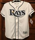 New Tampa Bay Devil Rays Youth Baseball Jersey White Medium 10 12 Kids Boys Sewn