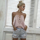 Elegant Denim shorts women bottoms Sequins fringe blue mid waist shorts Casual