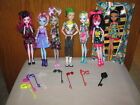 Monster High Loose Lot 7 Dolls Welcome Dance Deuce Moanica + Sweet Cleo Electric