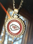 STERLING SILVER ROPE PENDANT W/ NFL KANSAS CITY CHIEFS b SETTING JEWELRY GIFT on eBay