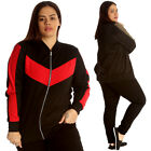 New Womens Bomber Jacket Plus Size Ladies Tracksuit Style Zipper Ribbed Contrast