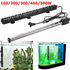 100-500W Aquarium Heater Quartz Glass Submersible Anti-Explosion Fish Tank Water