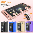 360° Full Cover Case +Tempered Glass For Samsung Galaxy J7 Sky Pro/J7 Prime Halo