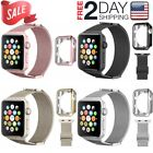 Stainless steel 42mm 38mm Band Silicone Case For iWatch Apple Watch Series 3 2 1