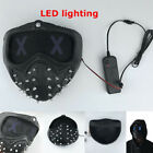 Game Watch Dogs 2 Mask Marcus Wrench LED Light Rivet Face Mask Cosplay Prop Gift