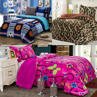 Twin Borrego Sherpa Blanket Super Soft Plush Winter Warm Cobija - 2 Piece Set