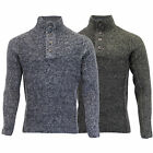 Mens Wool Blend Jumper Tokyo Laundry Knitted Double Layer Funnel Neck Pullover