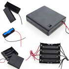 1/5X High Quality Plastic Battery Holder Storage Box For 18650 With Wire Lead UP