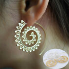 Trendy Big Circles Ear Stud Women Body Piercing Round Spiral Tribal Hoop Jewelry