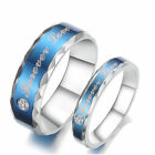 Forever Love Couple 316L Stainless Steel  White CZ Pave Setting Wedding Ring