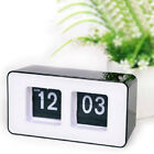 Simple Modern Fashion Cube Unique Retro Auto Flip Clock Desk Table Wall R7YG