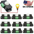 10x Body Infrared PIR Motion Sensor 12V/24V Switch For LED Light Strip Automatic