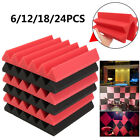 Red & Black Wedge Studio Acoustic Sound Proofing Insulation Closed Foam Tiles