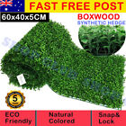 Artificial Boxwood Hedge Fake Vertical Garden Green Wall Ivy Mat Fence 60x40x5cm