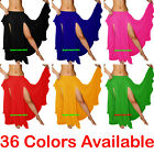 Chiffon 2 Front Slit Skirt Belly Dance Gypsy Tribal Costume 9 Yd Split Jupe Boho