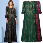 MIUSOL Wome Elegant Long Lace Gown, with Bell Sleeve Perfect for Prom, Formals