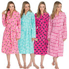 WOMENS ladies dressing gown robe polar fleece gowns pug owl butterfly spring new
