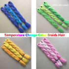 "USPS 24"" Kanekalon Jumbo Twist Braiding Hair Extensions Temperature Change Color"