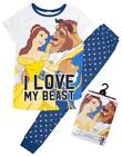 Womens Disney Belle Beauty & The Beast Love My Beast Pyjamas Plus Sizes 12-14