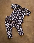 Six Bunnies Whole Lotta Skulls Pyjama Set Baby Infant Black Goth Punk Cool Gift