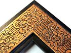 "2.3"" Mayan Bronze/Black Accent Solid Wood Canvas Picture Frame-Custom Standard"