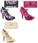 Ruby Shoo Silvia Mary Jane Shoes UK 3- 9 & Matching Genoa Bag Lace Pink Lemon