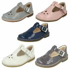 Clarks Infant Toddler Girls Buckle Patent Leather First Shoes Yarn Weave