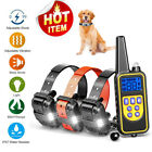 800 Yard Electric Remote Dog Training Shock Collar Waterproof Rechargeable LCD