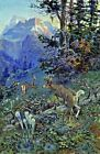 Deer in Forest White Tailed Deer. Giclee Fine Art Reproduction Prints on Canvas