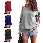 Women Autumn Rose Embroidered T-shirt Blouse long Sleeve Tops Hoodie Sweatshirts