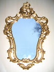 Decorative Wall Mirror in Gold White Repro Antique Baroque Art Nouveau Vintage