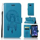 Magnetic owl Dreamcatcher leather stand Wallet flip Silicone phone cover case 11